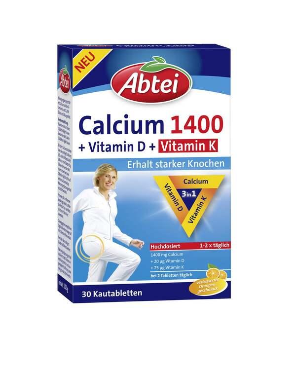 Abtei Calcium 1400 + Vitamin D + Vitamin K