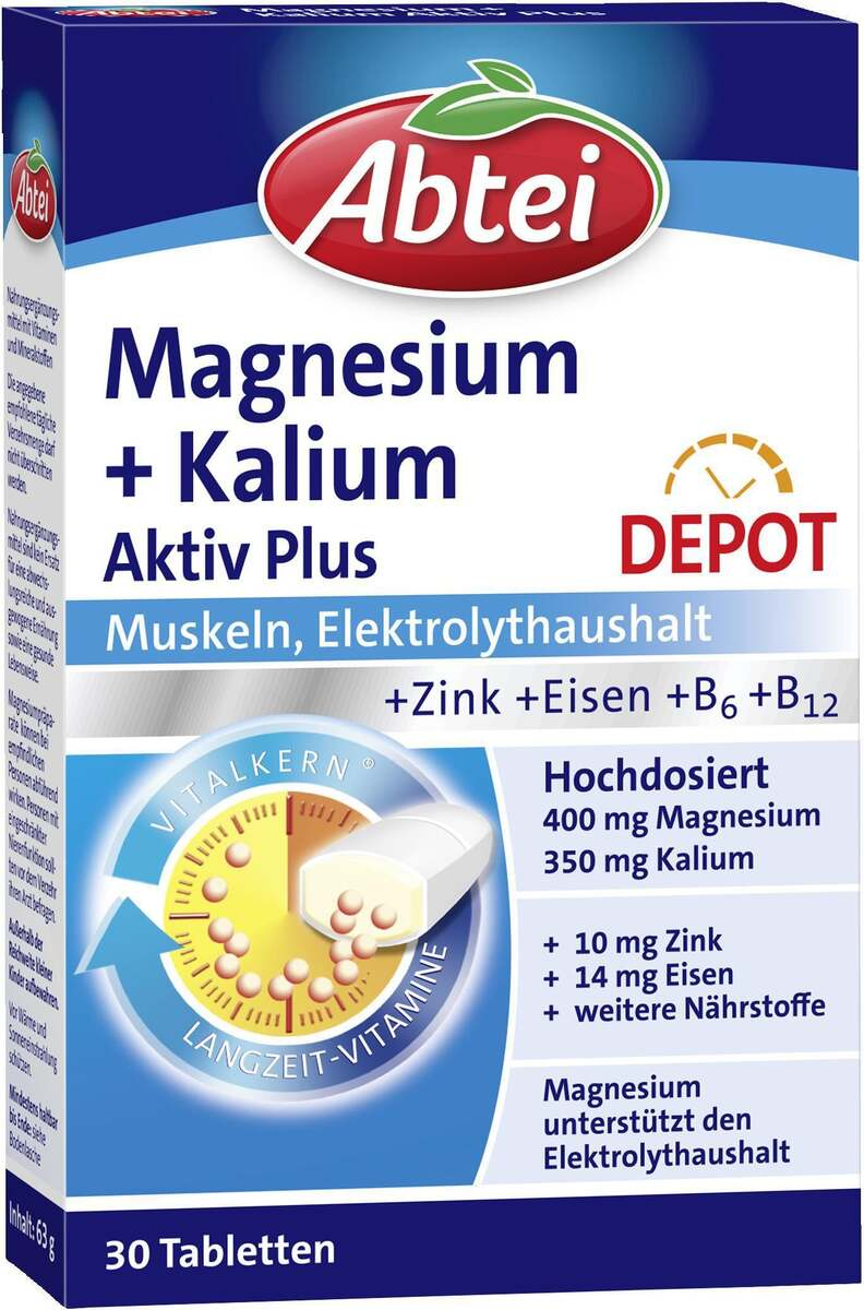 Bild 1 von Abtei Magnesium + Kalium Aktiv Plus Depot Tabletten