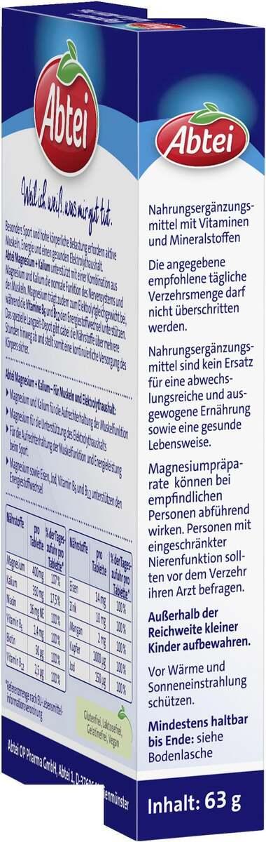 Bild 3 von Abtei Magnesium + Kalium Aktiv Plus Depot Tabletten