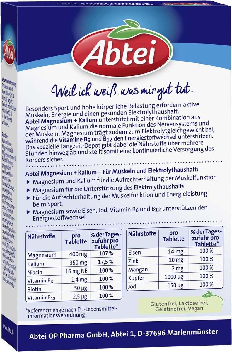 Bild 4 von Abtei Magnesium + Kalium Aktiv Plus Depot Tabletten