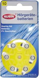 RUBIN Hörgerätebatterien Nr.10