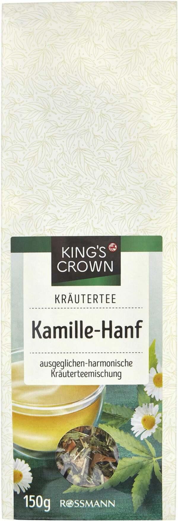 King's Crown Kräutertee Hanf-Kamille
