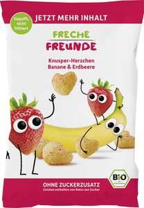 erdbär Bio Knusper-Herzchen Banane & Erdbeere