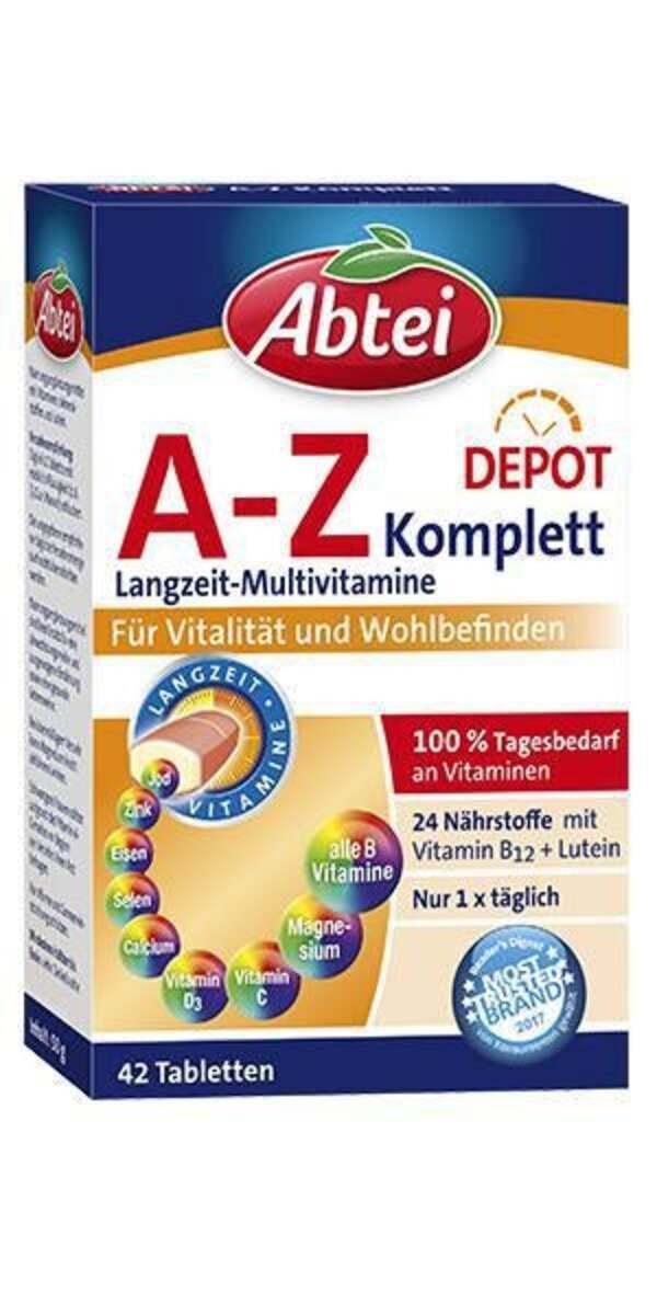 Abtei A-Z Komplett Langzeit-Multivitamine