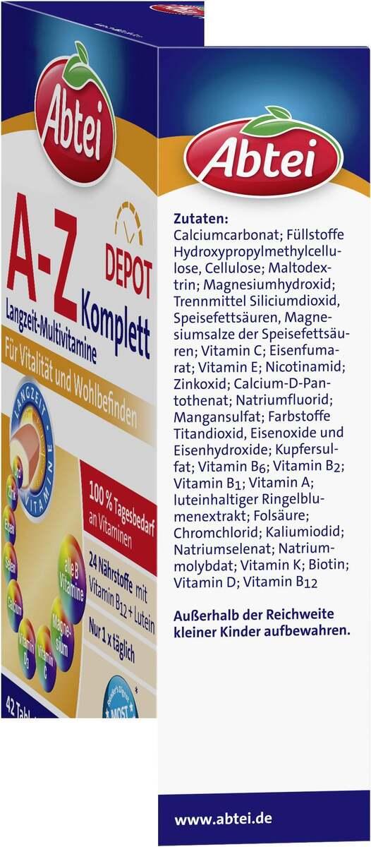 Bild 2 von Abtei A-Z Komplett Langzeit-Multivitamine