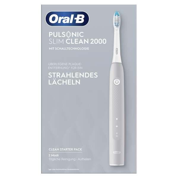 Oral-B Elektrische Zahnbürste Pulsonic Slim Clean 2000 Grey