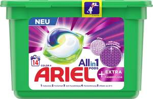 Ariel All-in-1 Pods Colorwaschmittel + extra Faserpflege 14 WL