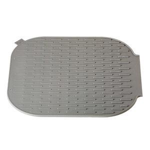 Vigar Abtropfmatte aus Silikon 30 x 30 cm in Grau