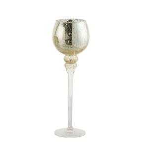 Glaswindlicht Kelch auf Fuß Cracking Champagner L 40 cm