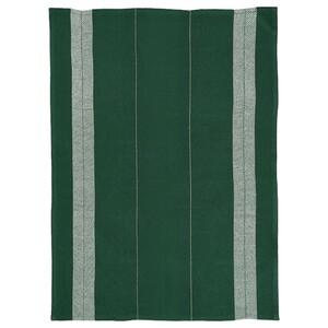 BOTANISK Handtuch, dunkelgrün/weiß Handarbeit
