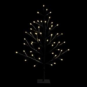 Lichterbaum 60 cm braun 51 LED warmweiß Innen