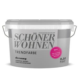 Wand- und Deckenfarbe 'Trendfarbe' 2,5 l matt Dreamy