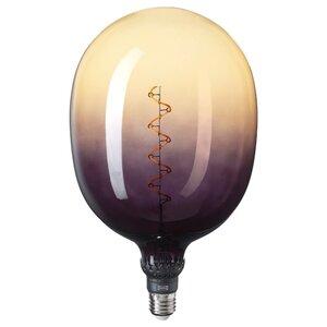 ROLLSBO LED-Leuchtmittel E27 160 lm, dimmbar röhrenförmig/braunschwarz Klarglas