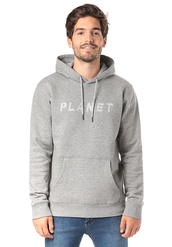 PLANET SPORTS Logo - Kapuzenpullover für Herren - Grau