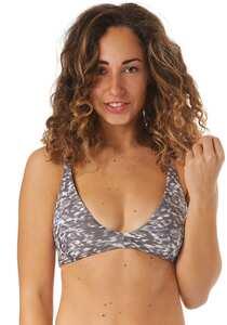 RVCA Leopard Haze - Bikini Oberteil für Damen - Grau