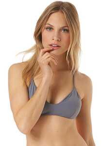 RVCA Solid Cross Back - Bikini Oberteil für Damen - Blau