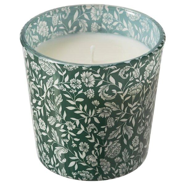 MEDKÄMPE Duftkerze im Glas, Süße Vanille/grün