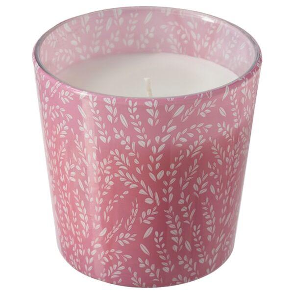 MEDKÄMPE Duftkerze im Glas, Sommerfelder/rosa