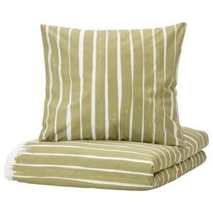 KRANSRAMS Bettwäscheset, 2-teilig, weiß/grün