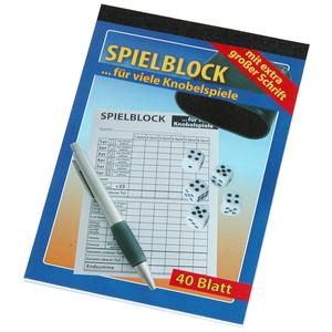 Spielblock für Knobelspiele - mit extra großer Schrift