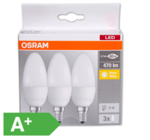 OSRAM LED-Kerzen, E14/40 W,470 lm