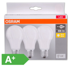 OSRAM LED-Lampen, E27/60 W, 806 lm