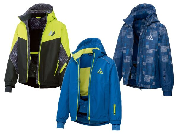 CRIVIT® Skijacke Jungen, mit Skipasstasche, wasserdicht