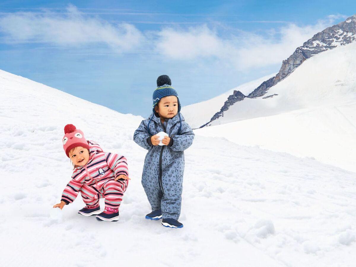 Bild 2 von LUPILU® Baby Mütze Mädchen, Fleecefutter, Bindebänder