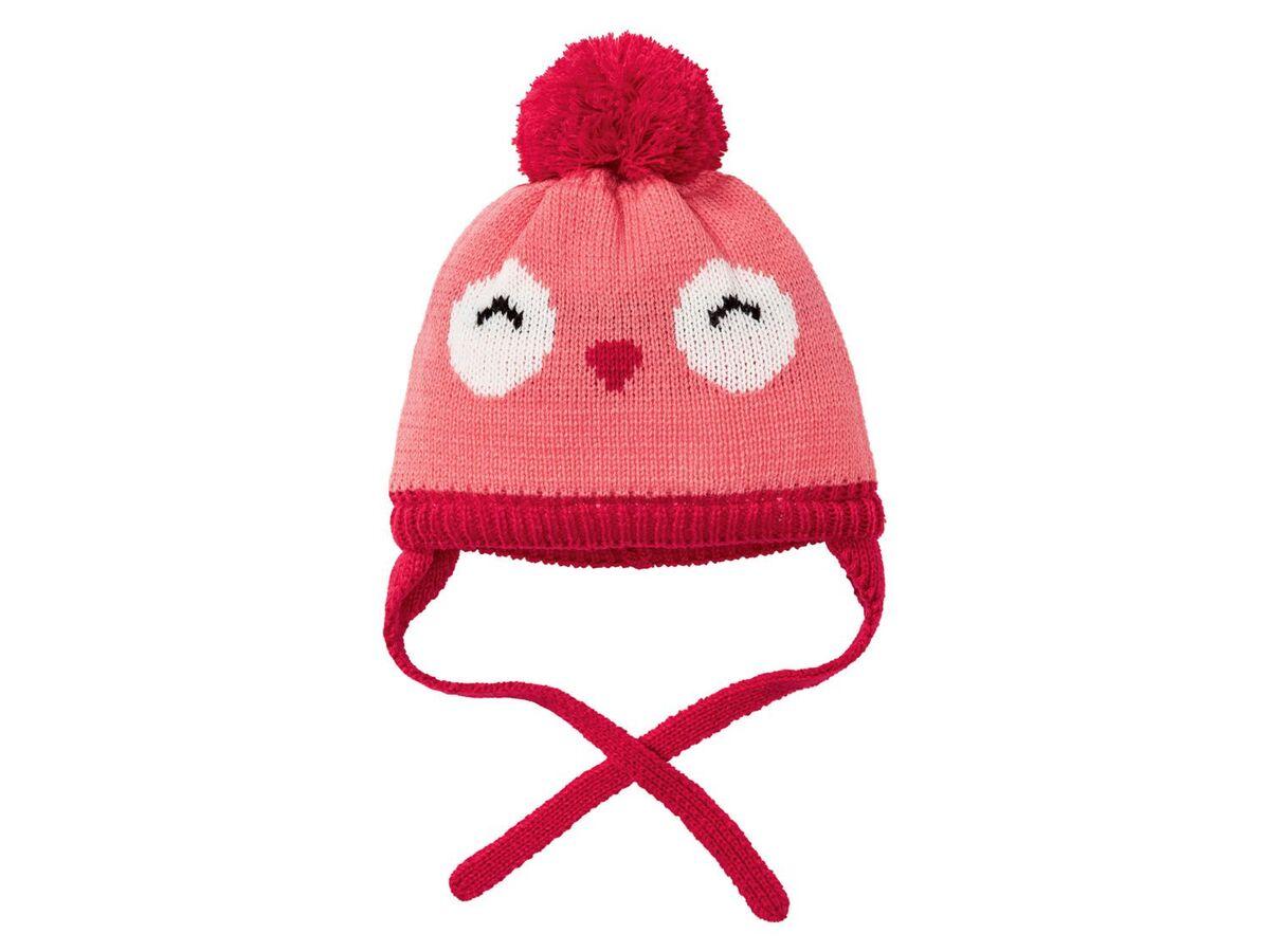 Bild 3 von LUPILU® Baby Mütze Mädchen, Fleecefutter, Bindebänder