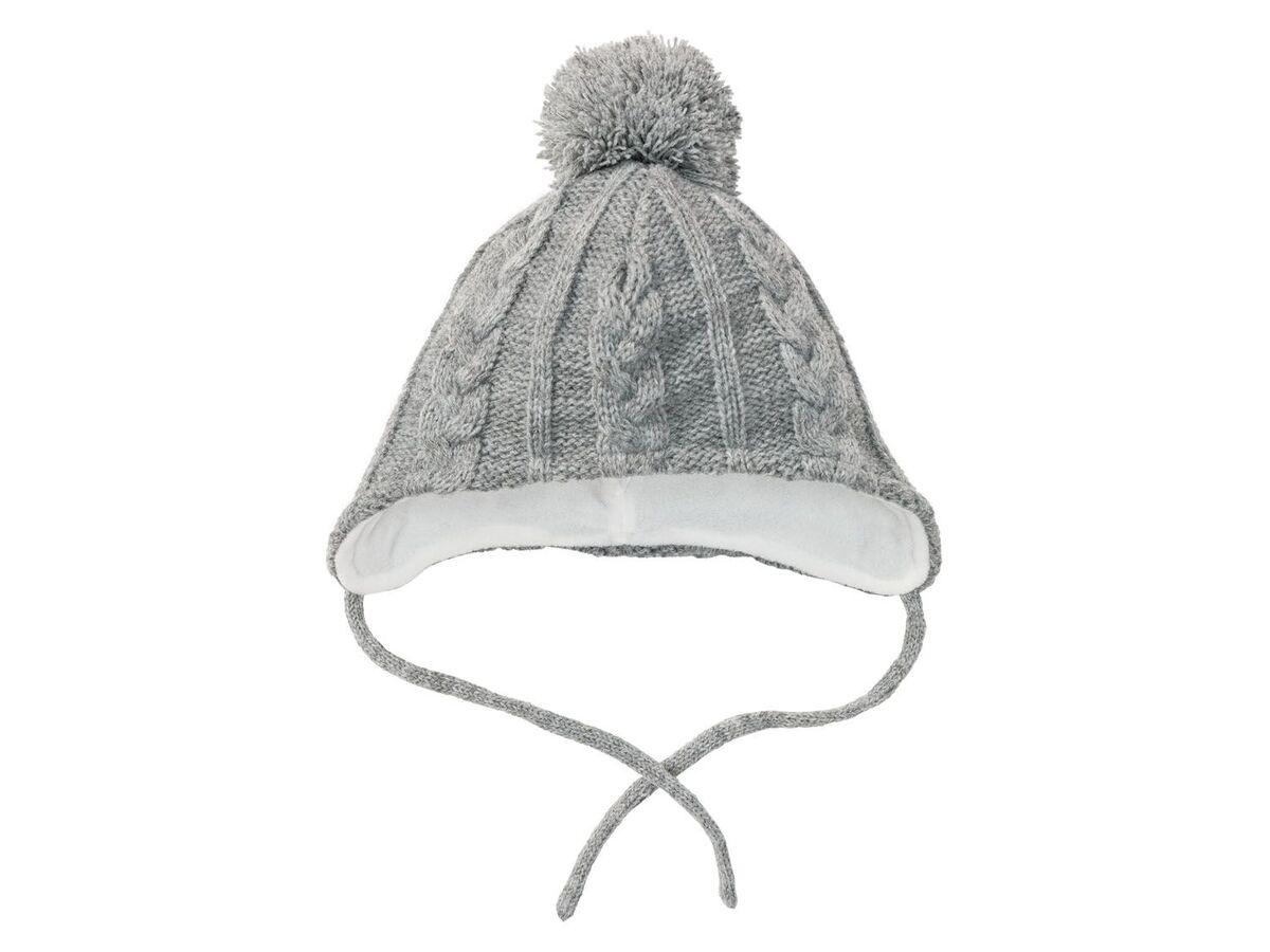 Bild 4 von LUPILU® Baby Mütze Mädchen, Fleecefutter, Bindebänder