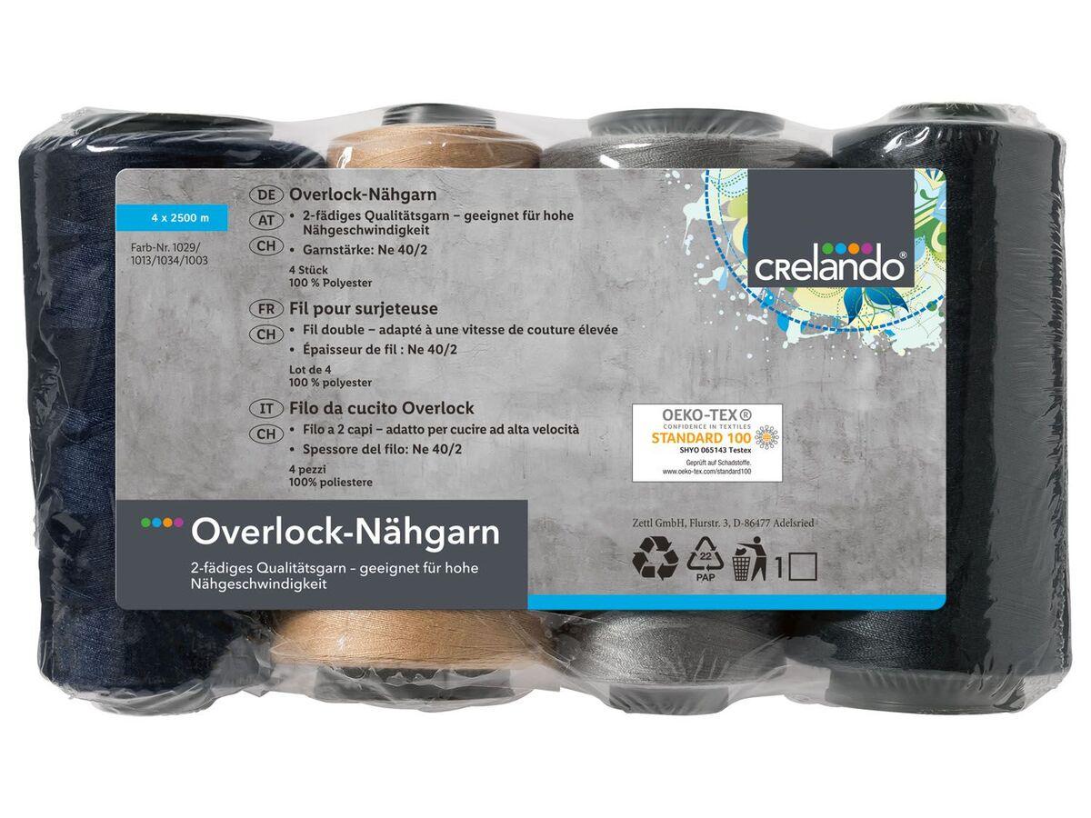Bild 2 von CRELANDO® Overlock Nähgarnspule, 4 Stück, 2-fädig
