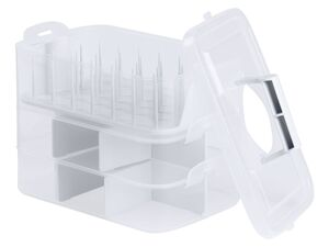CRELANDO® Nähzubehör-/ Aufbewahrungsbox, mit Tragegriff