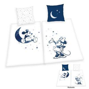 Mickey/Minnie Partner Bettwäsche weiß/blau