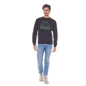 Kappa Herren Sweatshirt - schwarz, Gr. M
