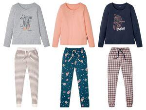 ESMARA® Lingerie Pyjama Damen, Hose mit Eingrifftaschen, Bindeband, mit Baumwolle