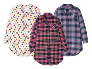 ESMARA® Bigshirt Damen, mit Tasche, aus reiner Baumwolle