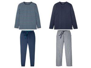 LIVERGY® Pyjama Herren, mit Gesäßtasche, Eingrifftaschen, aus reiner Baumwolle