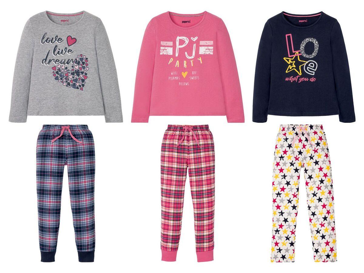 Bild 1 von PEPPERTS® Kinder Pyjama Mädchen, mit elastischem Bund