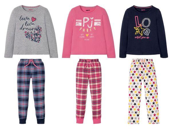 PEPPERTS® Kinder Pyjama Mädchen, mit elastischem Bund