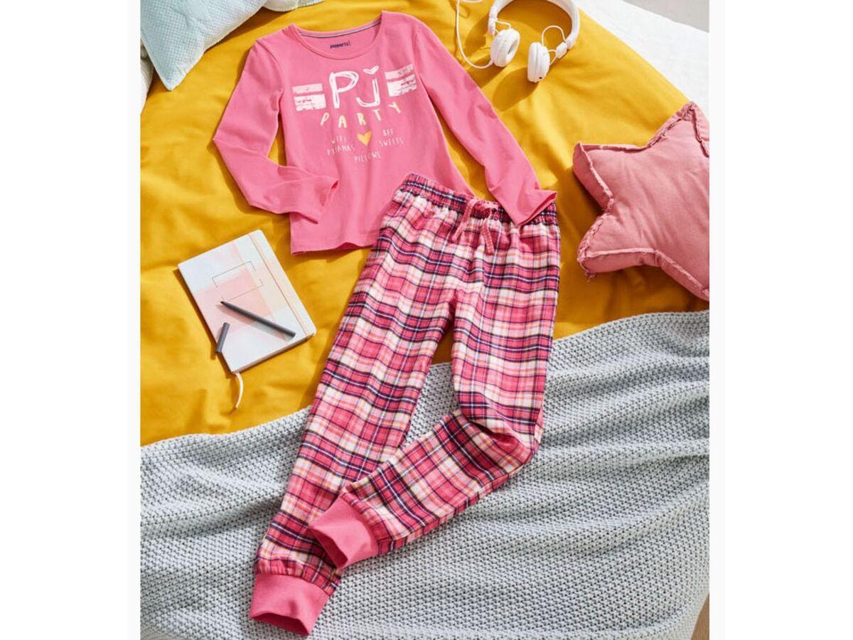 Bild 2 von PEPPERTS® Kinder Pyjama Mädchen, mit elastischem Bund
