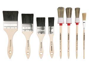 PARKSIDE® Pinselset, 8-teilig, mit Kunstfaser-Filamente, Griffe aus Holz