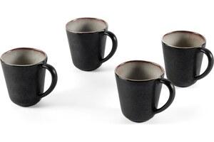Krisha 4 x Tassen, Weiss und Anthrazit - MADE.com