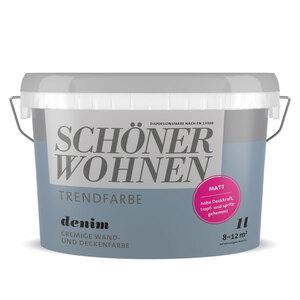 """Schöner Wohnen Farbe              Trendfarbe """"Denim"""" matt, 1 L"""