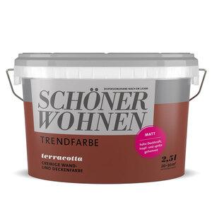 """Schöner Wohnen Farbe              Trendfarbe """"Terracotta"""", Matt, 2,5 L"""
