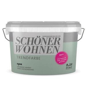 """Schöner Wohnen Farbe              Trendfarbe """"Spa"""", Matt, 2,5 L"""