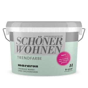 """Schöner Wohnen Farbe              Trendfarbe """"Macaron"""", Matt, 1 L"""