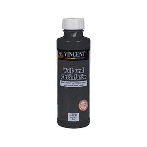 Vincent              Voll- und Abtönfarbe schwarz, 0,5 L