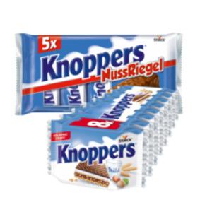 Knoppers Milch-Haselnuss Schnitten oder Nuss-Riegel 5er