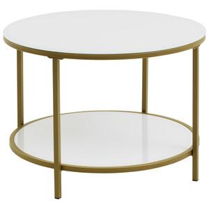 Beistelltisch GADEVANG (ø 65 cm, weiß-gold)
