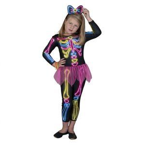 Kostüm - Neon-Skelett - für Kinder - 2-teilig - verschiedene Größen